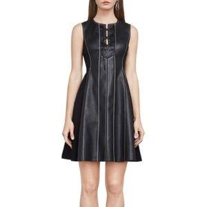 BCBGMAXAZRIA Jolee Faux-Leather Dress NEW, SIZE XS